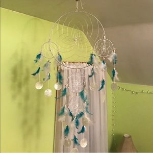 Blue Feathered Dream Catcher